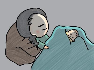 生後2ヶ月頃は膝の上に乗せて寝かしつけをしていた