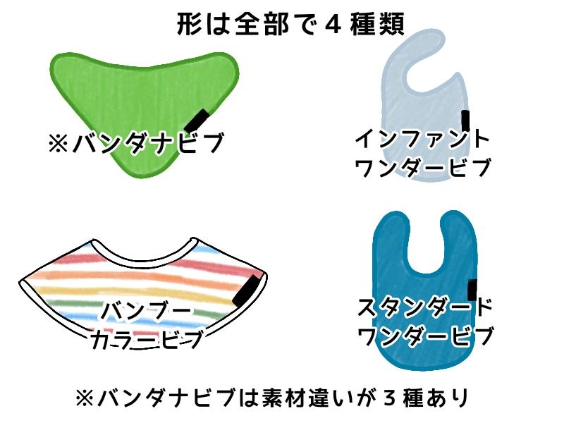 Mum2Mumのスタイの形は千部で4種類