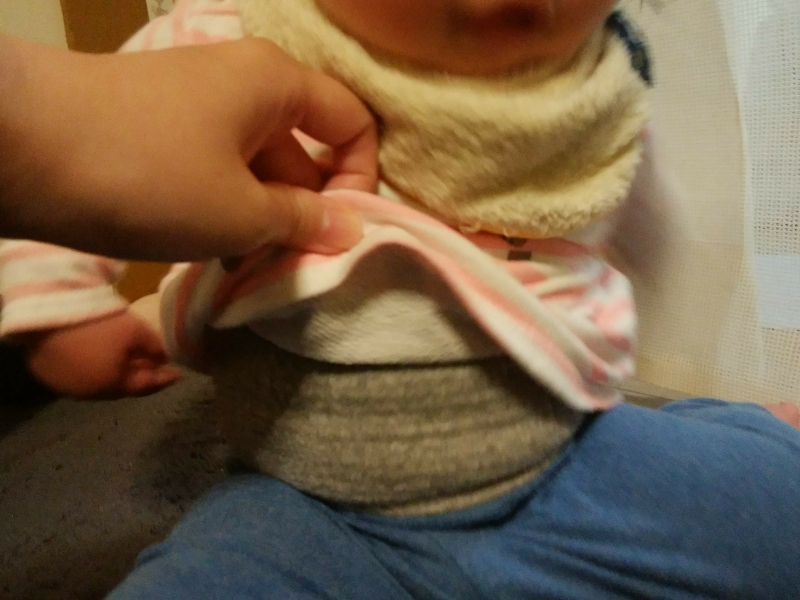 赤ちゃん本舗のcocupaのパジャマの腹巻ボトムは、ほど良いフィット感
