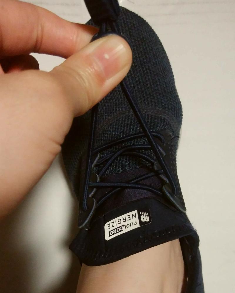 結ばない靴紐、ロックパーツの調整でゆるく
