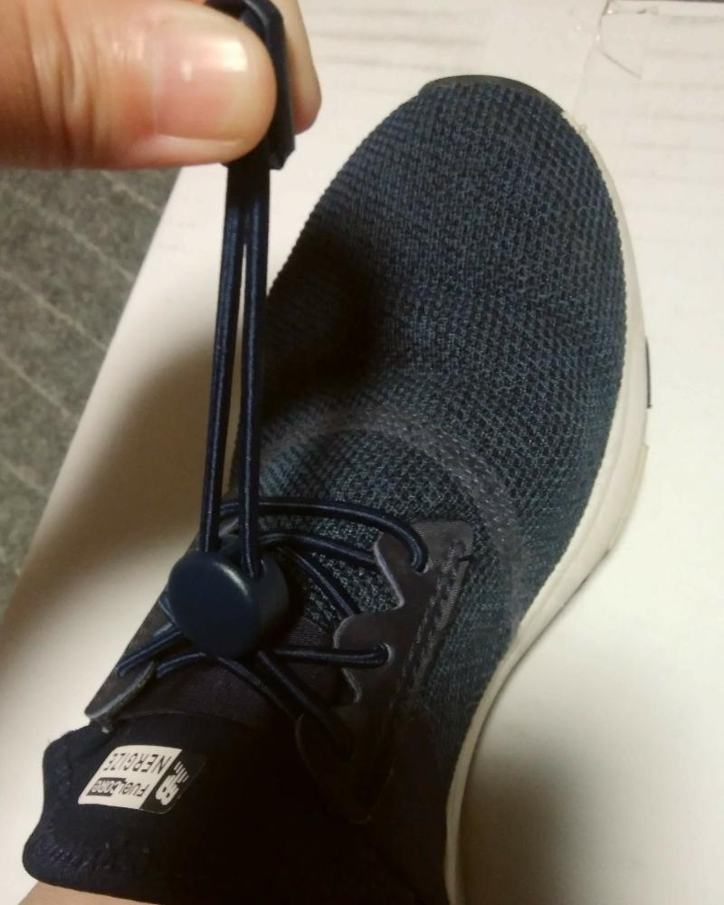 結ばない靴紐、ロックパーツの調整のために紐は少し長めに切る