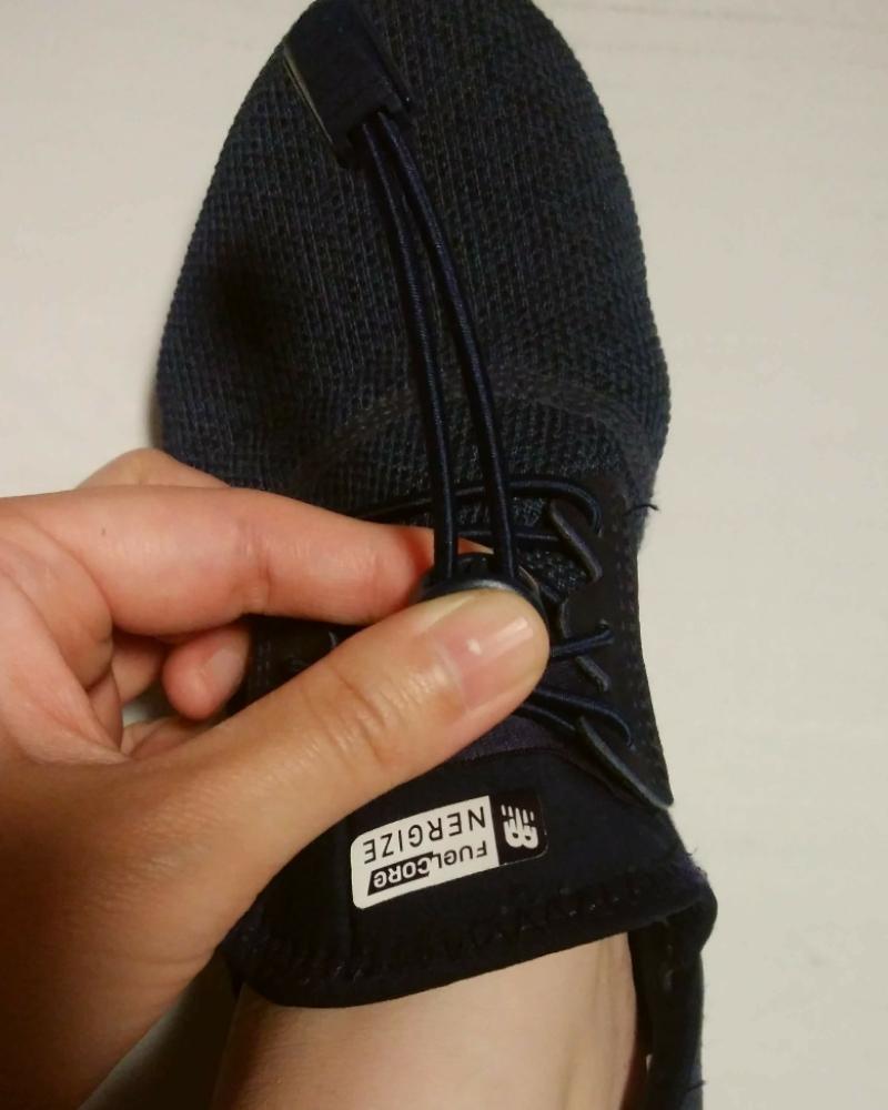 結ばない靴紐、ロックパーツの調整できつく